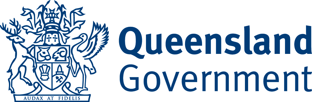 QLD government navy logo